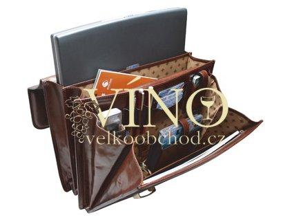 Akce ihned - kožená taška pro notebook - DIRECTOR - barva černá