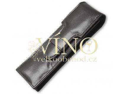 Luxusní kožené pouzdro na dvě pera - PENS - barva černá