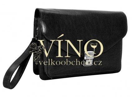 Pánská etue s páskem na zápěstí - DOVER - barva černá