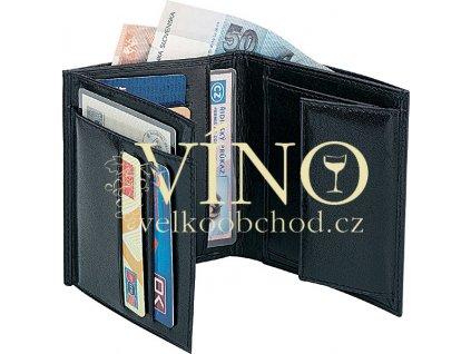 CENTAV kožená pánská peněženka v dárkovém balení, černá