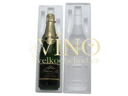 Jednička ochranný polystyrénový obal pro přepravu vína na 1 láhev