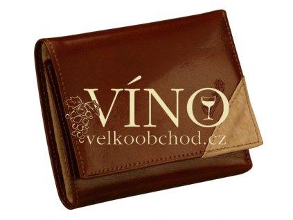 BELLO Guriatti - peněženka kožená, unisex, hnědá