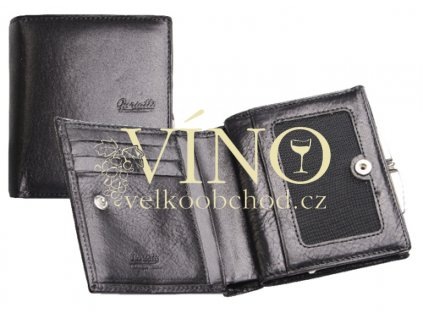 AGGRESIVO Guriatti - dámská kožená peněženka, černá