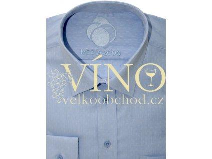 AKCE Košile pánská, dlouhý rukáv - RUHT 004 FRANKFURT, nebesky modrá 100% Bavlna