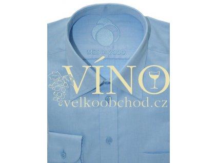 AKCE Košile pánská, dlouhý rukáv - RUHT 002 AMSTERDAM, sv. modrá 100% Bavlna TWO PLY-EASY CARE