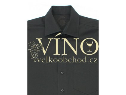 Košile pánská, dlouhý rukáv - RUHT 034 SAN MARINO, černá 100% Bavlna