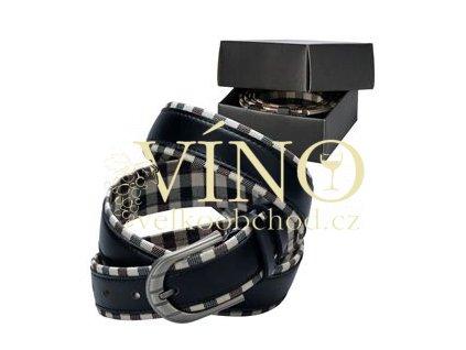 TOUS unisex pásek s kovovou sponou, černý