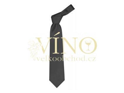 PREMIER LINE kravata COLOURS s jemným proužkem, černá