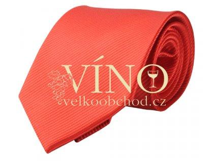 PREMIER LINE kravata COLOURS s jemným proužkem, červená