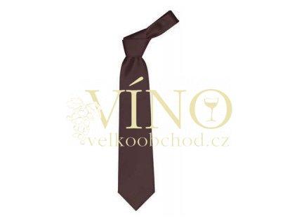 PREMIER LINE kravata COLOURS s jemným proužkem, hnědá