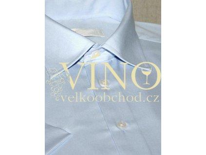 AKCE! CHRISTINA, pánská košile, krátký rukáv, sv. modrá. 55% Bavlna 45% Polyester