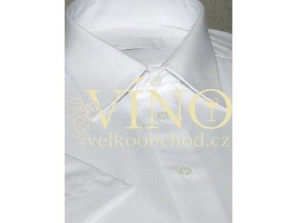 AKCE! GABRIELLE, pánská košile, krátký rukáv, sněhově bílá. 60% Bavlna 40% Polyester