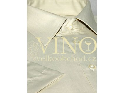 AKCE! DANIELLA, pánská košile, krátký rukáv, písková. 60% Bavlna 40% Polyester
