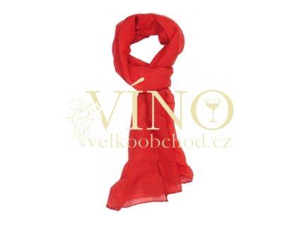 INTSTINT dámská šála, červená