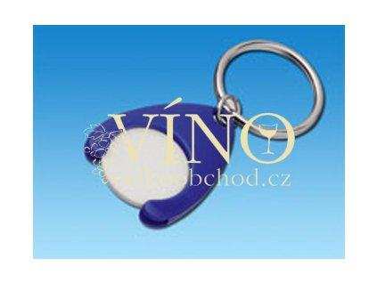 PORTHOS PLASTIC přívěšek na mince vč. žetonu, modrá