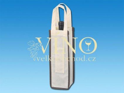 Leontine taška na víno, přírodní