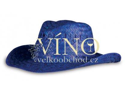 STRAW HAT plážový klobouk, modrý