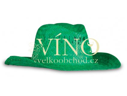STRAW HAT plážový klobouk, zelený
