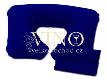 TRIP nafukovací polštářek za krk, modrá