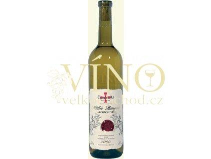 Templářské sklepy Archivní řada Müller Thurgau 2000 jakostní 0,75 l suché bílé víno