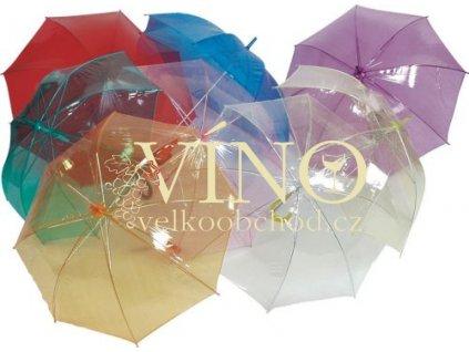 Light deštník LA-20, transparentní