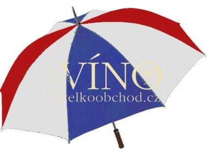 Golf golfový deštník GP-2, kombinace bílá/modrá/červená