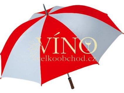 Golf golfový deštník GP-2, kombinace bílá/červená