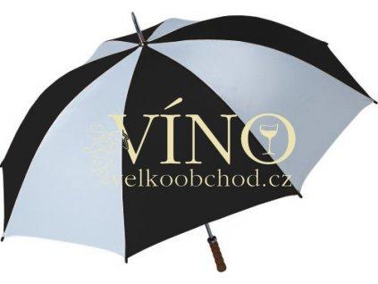 Golf golfový deštník GP-2, kombinace bílá/černá