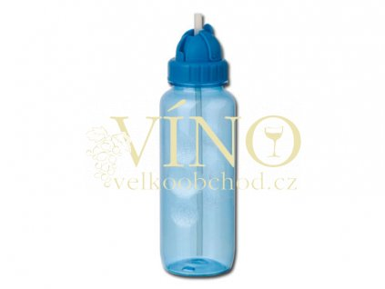 FRIDA láhev 650 ml, transparentní světle modrá