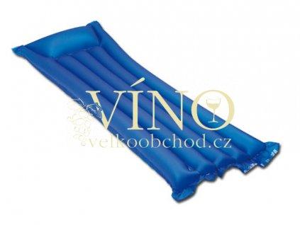 MARLOW nafukovací lehátko, transp., modrá