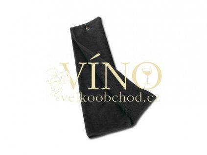 GOLF TOWEL golfový ručník 420 g/m2, černá
