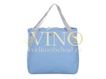 Plážová taška na zip, světle modrá