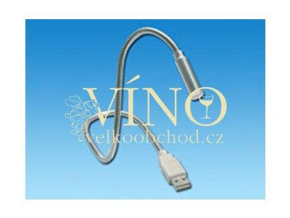 USB LIGHT lampička, stříbrná