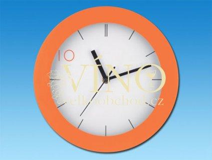DEMPSTER nástěnné hodiny, oranžová