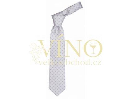 André Philippe PREMIER LINE kravata, bílá se vzorem