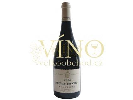 Champs Cloux Rully rouge 1er cru 0,75 L suché francouzské červené víno z oblasti Bourgogne Côte Chalonnaise