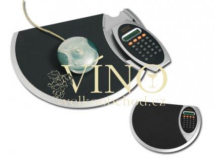 OPRAH podložka pod myš s kalkulačkou, černá