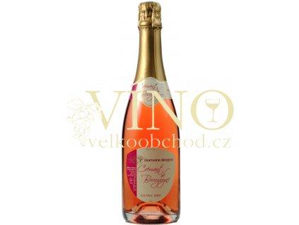 Domaine Borgnat Cremant de Bourgogne Rose Extra Dry 0,75 L francouzské růžové šumivé víno