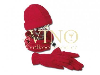 DICKSON čepice, rukavice, šála, červená