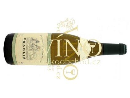 Akce ihned Domaine de Chardonnay Chablis AOC 2015 0,75 l suché francouzské bílé víno