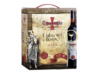 Templářské sklepy Cabernet Moravia BAG-IN-BOX 5 l červené víno