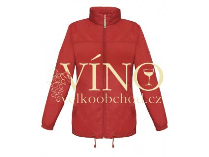 SIROCCO WOMEN větrovka s kapucí, vel. L, červená