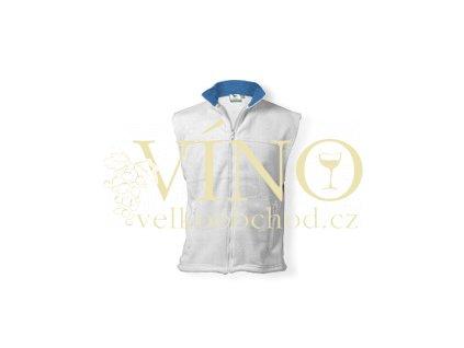 LANGSTON fleecová vesta, 280g, vel. L, bílá