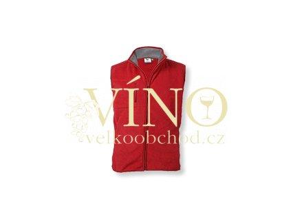 LANGSTON fleecová vesta, 280g, vel. L, červená