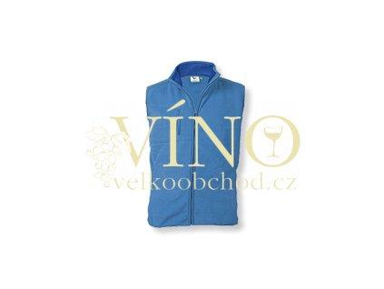 LANGSTON fleecová vesta, 280g, vel. L, azurově modrá