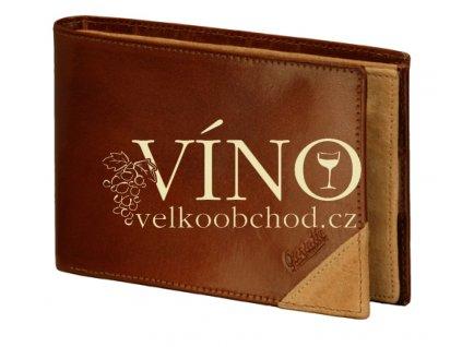 Guriatti DIVERSO - peněženka kožená, unisex, hnědá
