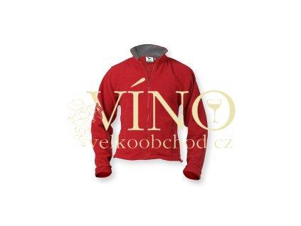 MISHA Fleece Jacket 280g, dámská mikina, vel. M, marlboro červená