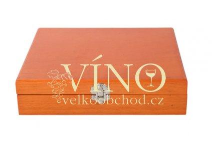 Dárkový dřevěný box, hnědý
