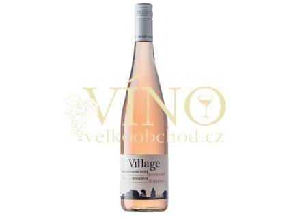 Nové Vinařství Village Svatovavřinecké rosé 2015 jakostní 0,75 l polosuché růžové víno