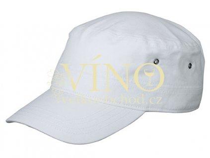 MILITARY CAP FOR KIDS MB7018 dětská čepice s kšiltem, bílá